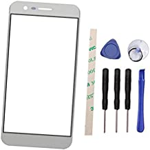 General Outer Screen Front Glass Lens Replacement for LG M210 MS210 Aristo LV3 K8 2017 (Not LCD and Not digitizer) (Silver)