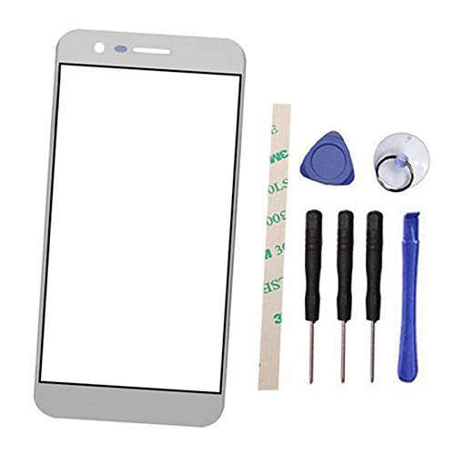 Outer Screen Front Glass Lens Replacement for LG M210 MS210 Aristo LV3 K8 2017 (Not LCD and Not digitizer) (Black)