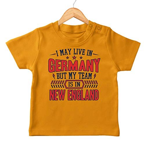 Patriots New England Pats Football Super Bowl Premium Baby T-Shirt Babyshirt, Farbe:Orange (Orange BZ02), Größe:18-24 Monate
