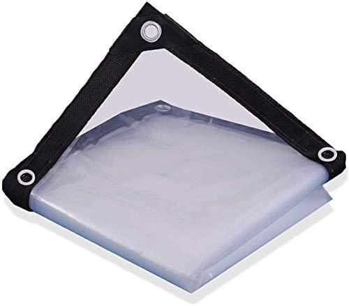 Transparent Waterproof Tarp Clear Tarp Waterproof Painting Sheeting Patio Furniture Covers Plastic Drop Heavy Waterproof Multi-Purpose Anti-Tear Cloth Cover, Awning