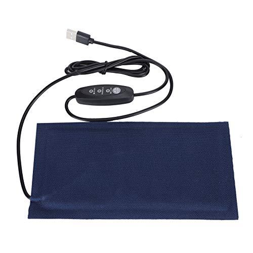 Tnfeeon Tapis Chauffant pour Animaux de Compagnie Tapis de Tapis électrique chauffé USB Alimentation électrique température réglable pour Doux Confortable pour Chiots Chatons lézard(L)