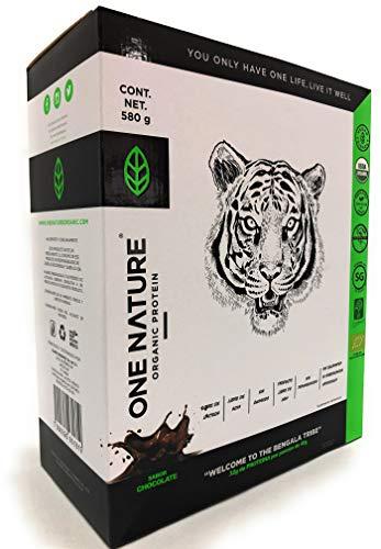 One Nature 580g Proteína Vegana En Polvo Certificada 100% Vegetal (VAINILLA)