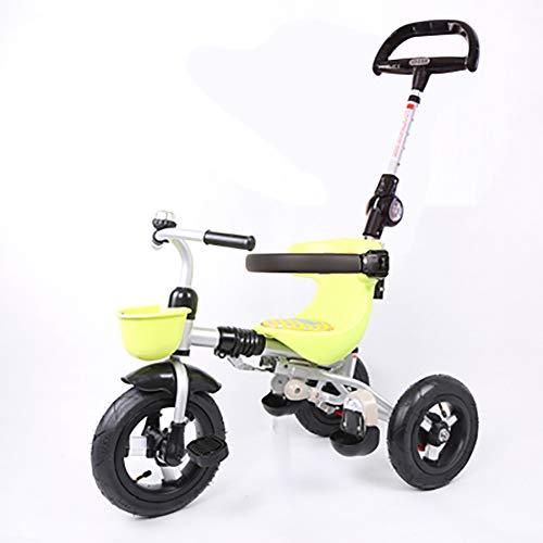 Kinderdriewieler voor meisjes van 1-3 jaar, inklapbaar, driewieler voor kinderen met mand voor en stuurwielen, 3 wielen, voor peuters