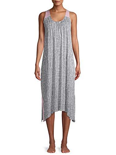 Gray Tie Dye Stripe Midi Chemise Sleepwear Dress(size 4X)