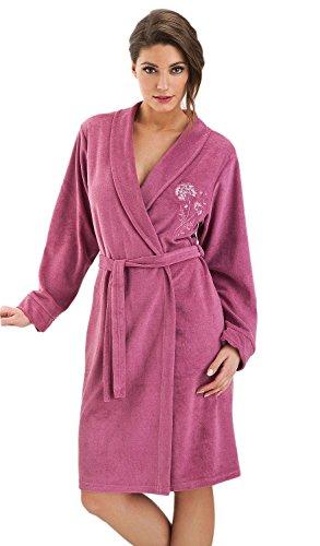 DOROTA - Albornoz de algodón con bolsillos y capucha,