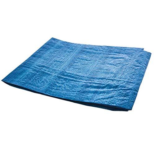 Yowablo Runde Poolmatte Staubdichter Boden Stoff Teppichabdeckung Für Outdoor Water Pool Spaß (488x488cm,Blau)