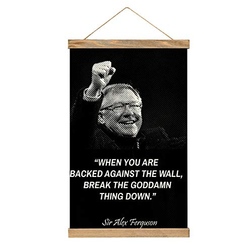 Lienzo de alta calidad para colgar una imagen, póster de Sir Alex Ferguson-nM77, mural, fácil de instalar