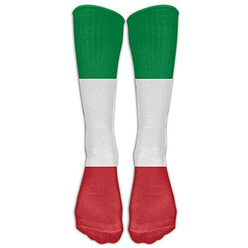 LzVong Unisex Long Socks Italian Flag Comforable Knee High Stockings