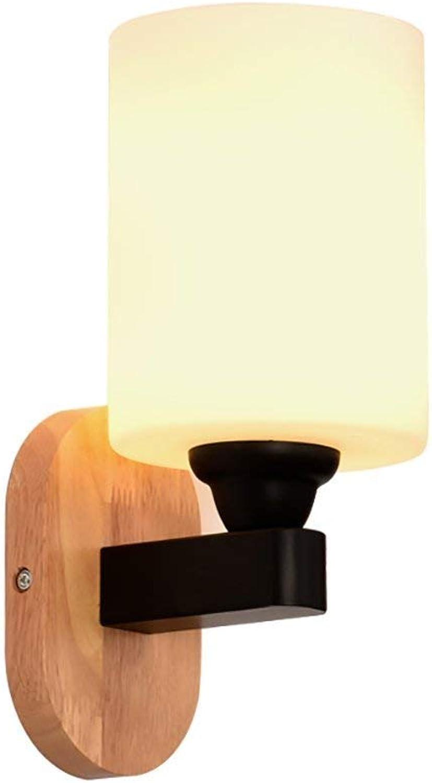 Monfs Home Moderne minimalistische Mode Wandleuchte Milchglas Wandleuchte Spiegel Scheinwerfer Studie Lampe Nachttischlampe Wandlampe