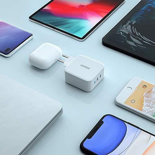 PD 100W Ladegerät mit GaN Tech,CHOETECH 100W 2-Port USB C Ladegerät mit Power Delivery für MacBook Pro/Air,iPad Pro,iPhone 12/mini/Pro Max,iPhone SE/11/11Pro Max/XS Max,Surface pro,Galaxy,Huawei,Pixel