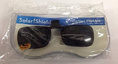 Solar Shield Clip-on Polarized Sunglasses Size 54 Rec New