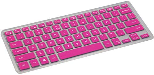 Who-Care para Dell Xps 15 9570 15 9570 Xps15 15.6 pulgadas Xps 15 9550 9560 9570 Laptop Keyboard Cover Skin,Clear-Rose-Onesize