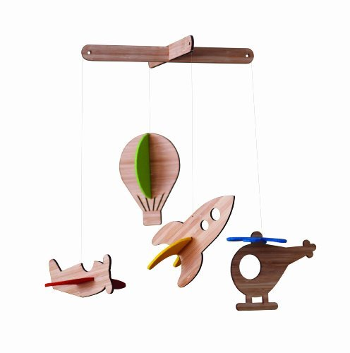 Petit Collage Deluxe Bamboo Mobile, Up In the Air by Petit Collage