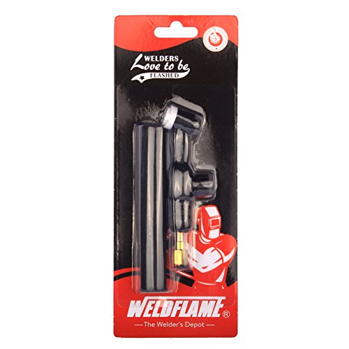 Weldflame 125A Air-Cooled Head Body 9FV (Flexible/Valve) TIG Welding Torch 9 Series