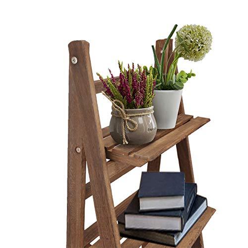 Foldable Plant Shelf, 4-Tier Plant Stand Ladder Shelf, Flower Pot Holder Display Stand Storage Rack for Garden Patio Balcony Indoor Outdoor