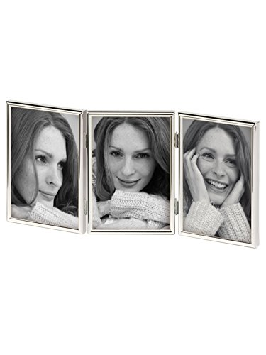 walther design WD338S Chloe Portraitrahmen 3x 13x18 cm, silber