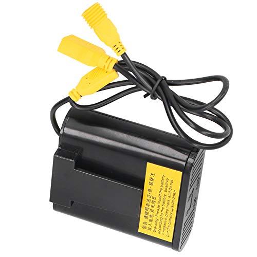 SALUTUYA Almacenamiento de batería Accesorios de Ciclismo Altamente confiable 18650 Luz de...