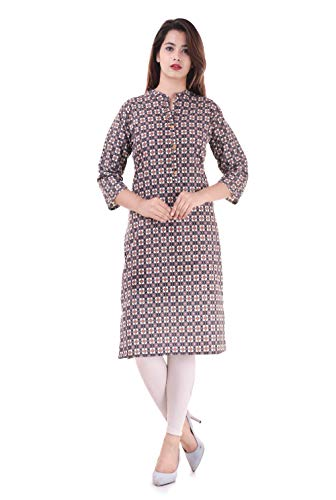 Indian Women's Printed Cotton Kurti Multi-Color Top By Chichi