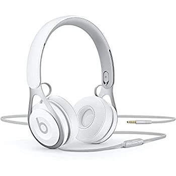 Beats Ep Wired On-Ear Headphones - Battery Free for Unlimited Listening Built in Mic and Controls - White