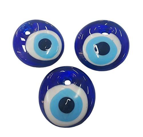 5 Stück Nazar Boncuk Boncugu 2,5/3/4/5 cm Blaues Auge, Evil Eye, Türkischer Glücksbringer, Gastgeschenke Glas Perlen Dekoration Amulett Anhänger Wanddeko Babyparty Sünnet bebek sekeri (5, 5cm)