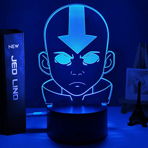 Acrylic 3d Lamp Avatar The Last Airbender Nightlight for Kids Child Room Decor The Legend of Aang Appa Figure Table Night Light