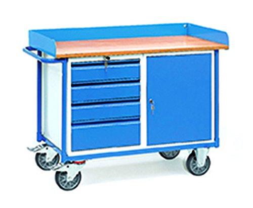 Werkstattwagen mit 1 Schrank und 4 Schublade
