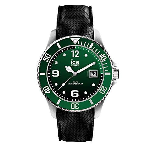 Ice-Watch - ICE steel Green - Grüne Herrenuhr mit Silikonarmband - 015769 (Medium)