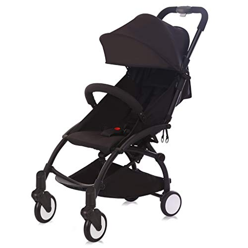 New King Boutiques Folding Stroller Baby Stroller Ultra Light Portable can Sit Easy Mini Folding Pocket Baby Toddler Stroller Travel System (Color : Black)