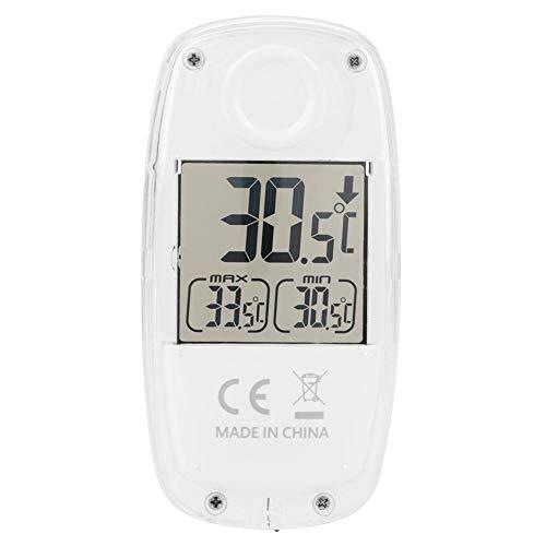 TS-809W 温度計 太陽電池 .温度計 デジタル .室内温度計.温度湿度計 壁掛け .led 温度計 ホワイト .吸盤温度計.LCDディスプレイ付き.°C /°F