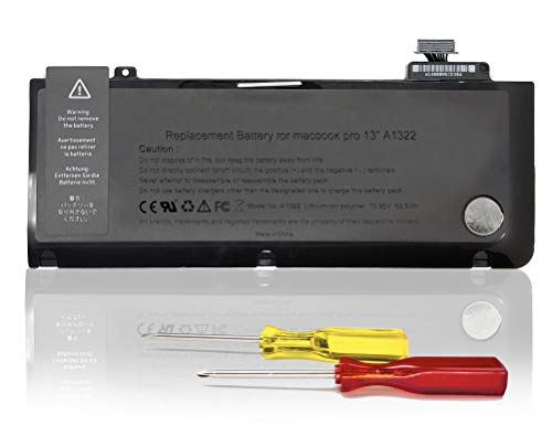 KDJAMI Batteria A1278 A1322 per Apple MacBook Pro 13'[2009 2010 2011 2012 Anni] MD101LL/A MD313LL/A MC700 MC700LL/A MD102LL/A MC374LL/A MB990LL/A [10,95V 63,5Wh ]