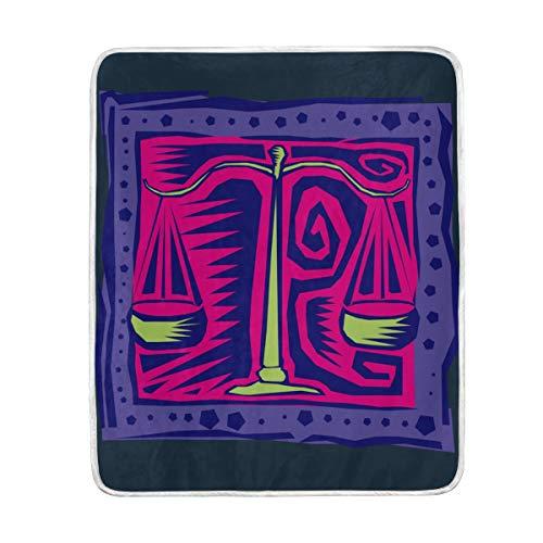 Vipsa Manta Libra con pintura al óleo, manta supersuave, manta de microfibra de poliéster cálida, manta de sofá de felpa ligera