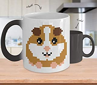 Retro Pixel Guinea Pig Mug Color Changing Gamer Gift Boys Men Girls Gaming