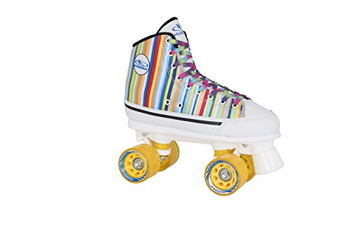 HUDORA Rollschuhe Roller-Skates Candy Stripes, Disco-Roller, Gr. 38, 13052