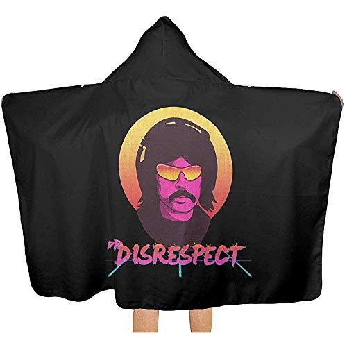 Moily Fayshow Disrespect Decke mit Kapuze, kuschelig warm tragbare Decken Neuheitsumhang für Kinder Erwachsene 150 x 130 cm