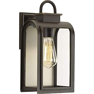 Progress Lighting P6030-108 Traditional/Casual 1-100W Med Wall Lantern, Oil Rubbed Bronze
