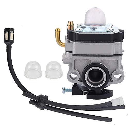 Savior 753-04296 Carburetor with Primer Bulb Fuel Line Kit for WYL-229 WYL-229-1 753-05251 753-1225 753-04745 Troy Bilt TB415CS TB425CS TB465SS TB475SS TB490BC TB575SS TB525CS MTD Trimmer