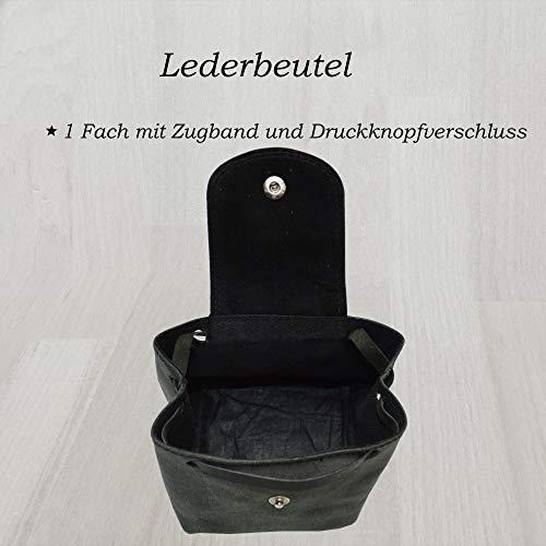 Lederbeutel Kleingeldtasche Mittelalterliche Geldbeutel aus Wildleder (schwarz) - 2