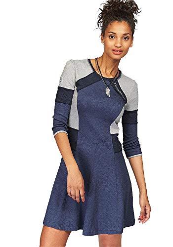KangaROOS Damen Sweatkleid Kleid (blau meliert, 36)
