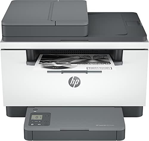 HP LaserJet MFP M234sdn 6GX00F, Impresora Láser Multifunción, Imprime, Escanea, Copia, Fast Ethernet, USB 2.0, HP Smart App, Panel de control con botones LED, Blanca y Gris
