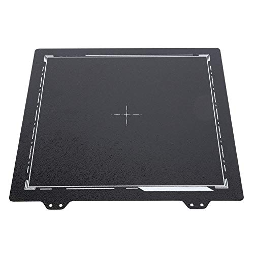 PEI Steel Sheet,Spring Steel Sheet Black Double‑Sided PEI Powder Plate Printer Tempered for Ender‑3/3S/3Pro/5 235 x 235mm