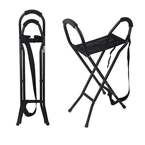 Bastón para caminar, asiento de bastón plegable, banco para silla, taburete de viaje para acampar, 2 asas con 4 patas, bastón portátil para personas mayores para mujeres y hombres Beautiful Home