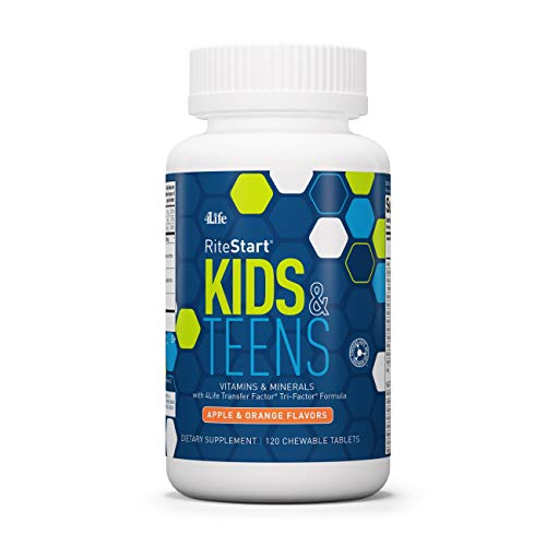 4Life - Ritestart Kids & Teens - Apple and Orange Flavors - Vitamin/Minerals and More - 120 Chewable Tablets
