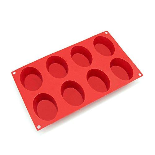 ACAMPTAR siliconenvorm voor zeep, torta, brood, cupcake, cheesecake, maïs, muffin, brownieën en andere