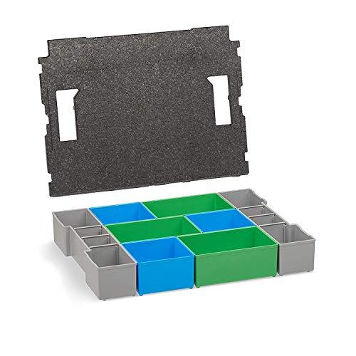 Aufbewahrung Schrauben | L-BOXX 102 Insetboxen-Set | CD3 Einsätze mit Deckenpolster | Sortierboxen für Kleinteile | Aufbewahrungsbox Schrauben