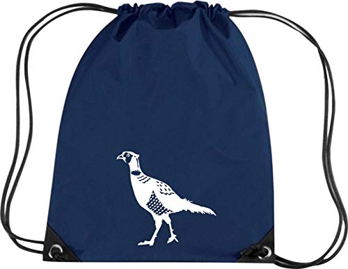 Camiseta stown Premium gymsac Animales faisán Pheasant, pollo, azul marino