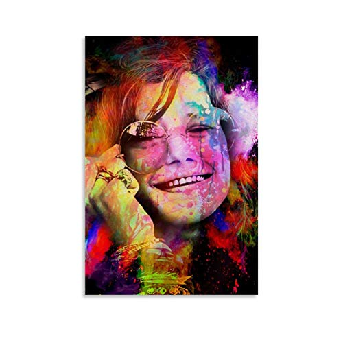 madan Janis Joplin in Color Poster Decorative Painting Canvas Wall Art Living Room Posters Bedroom Painting 12x18inch(30x45cm)
