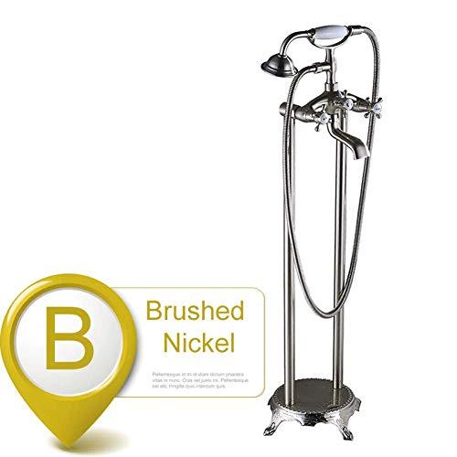 Sistema doccia Rubinetto per vasca Doppio manico Rubinetto per lavabo a pavimento Miscelatore Miscelatore monocomando per vasca da bagno in bronzo nero