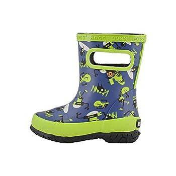 Bogs Kids Skipper Waterproof Rainboot  Toddler/Little Kid  Robots - Navy 11 Little Kid