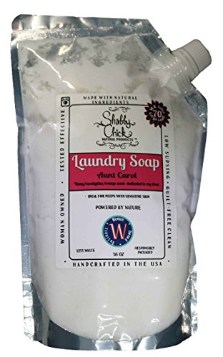 Natural Laundry Soap - Shabby Chick Natural Products - 100% Natural Laundry Detergent Alternative Made with Essential Oils (YlangYlang Eucalyptus and Orange, 36 oz)