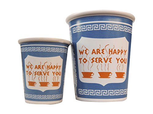 Exceptionlab'We are Happy to Serve You' Espresso Cup, 3-Ounce, Blue